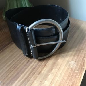 Gap Black Leather Wide Belt Medium